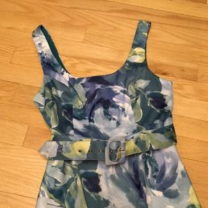 Charlotte Russe, size 7 watercolor belted dress